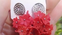 Длинные серьги с цветами (45)