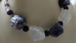 Серебряное колье из аметистов и горного хрусталя ′Нибиру′