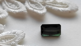 Dark green tourmaline - jewelry insert