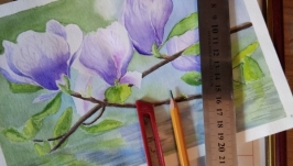 Как сделать паспарту из бумаги для оформления акварельной картины