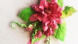 Делаем цветок из бумаги без специальных инструментов