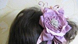 «Обруч для волос Розовый блеск»