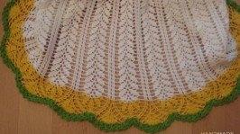 Комплект для маленькой принцессы: платье  косынка «Ромашка»