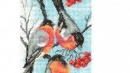 Картина крестом «Снегири»