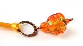 Кулон оранжевый лэмпворк (КШ-14-18)