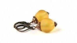 «Цукаты» Серьги желтые матовые
