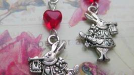 Сережки «Зайці» з Аліси
