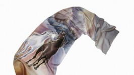 Батик шарф «Вдвоем к мечте»
