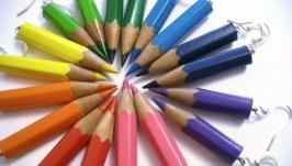 Серьги-карандаши