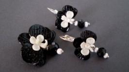 Комплект Classic с черно-белыми орхидеями