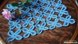 Салфетка голубая для дома