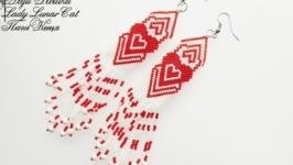 Сережки « Червова дама »