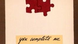 «Картинка-открытка Ты дополняешь меня..»