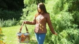 Комплект жіночий - жакет і сумка Птаха - осінь