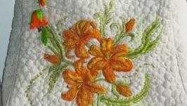 Вишита лляна сумка Лілейний цвіт