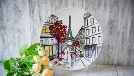 Авторская тарелка ′Парижские улочки′