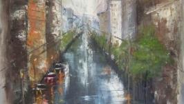 Картина маслом «После дождя»