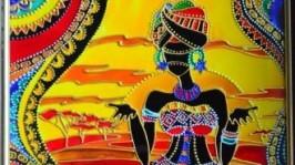 Витражная картина «Африка»
