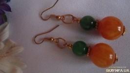 Сережки «Два камня»