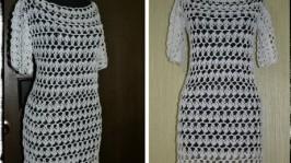 Платье «Белоснежные узоры»
