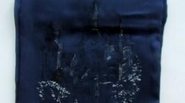 Батик шарф «Замок Нойшванштайн»