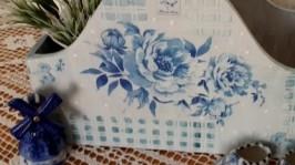 Корзинка Голубые розы