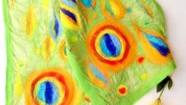 «Абстракция» валяный шарф