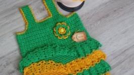 «Платье с рюшами для девочки »