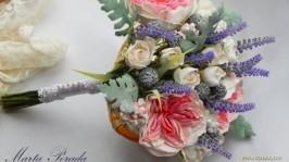 Весільний букет нареченої в пастельних тонах