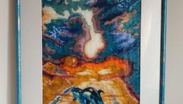 Картина бисером «Тоска по морю»