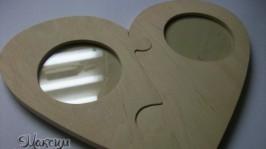 «Фоторамочка-пазл у формі серця»