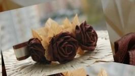Венок на пучок Шоколадный шик