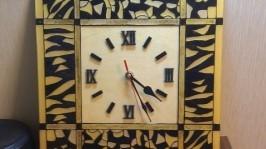 Витражные часы «Кофейные»