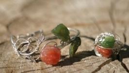 Комплект ′ Роза′. Браслет и кольцо. Серебро.