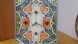 Витражные часы «Иранский коврик»