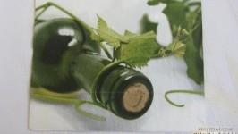 Салфетка «Бутылочка вина»