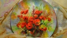 «Декоративная тарелка Маки.»