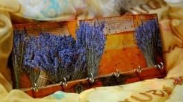 «Ключница или Вешалка для бус и подвесок Лавандовый аромат.»