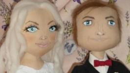 Портретные куклы Молодожены