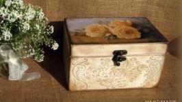 Скринька Кремові троянди