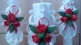 Набор свадебных свечей№907