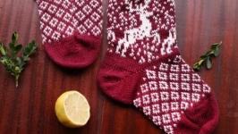 Носки с оленями