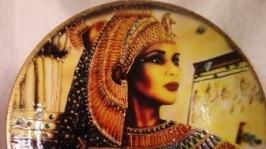 Интерьерные тарелки в технике Декупаж Египет