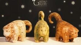 Новогодние обезьянки, сувениры подарки из керамики 2016 год обезьяны