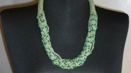 Колье вязаное крючком