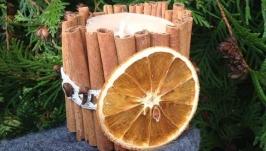 Свечка ароматизированная Корица-цитрус
