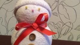 Снеговик с бантом