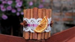 Свечка с корицей Апельсин