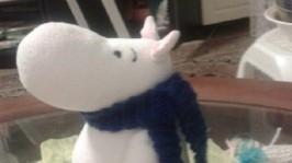 Муми-тролль с шарфиком
