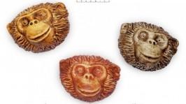 Новогодние обезьянки сувениры 2016, магниты из керамики с обезьяной